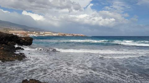 Choppy sea on the coast of Tenerife Live Action