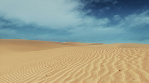Motion through sandy desert dunes at daytime Archivo
