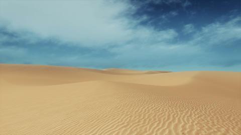 Motion through sandy desert dunes at daytime Stock Video Footage