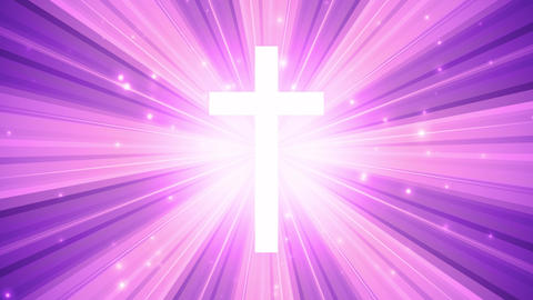 Worship Cross Light Rays Animation
