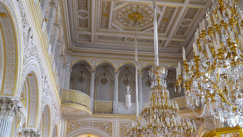 The halls of state Hermitage Museum in St. Petersburg. Russia Footage