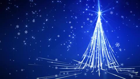 Blue Streaks Christmas Tree Animation
