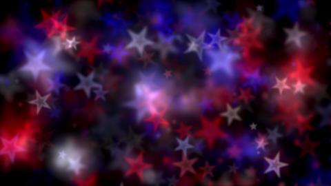 Patriotic Star Lights Motion Animation