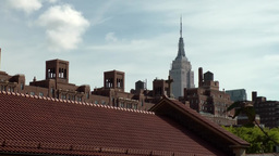 New York City 650 roofs in 10th Avenue and Empire State building Footage