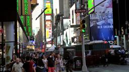New York City 619 pedestrian crossing on Broadway Footage