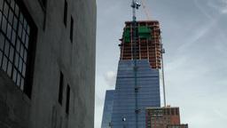 New York City 638 skyscraper construction site beside High Line Park Footage