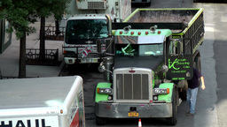 New York City 642 American truck seen from High Line Footage