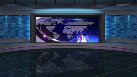 News TV Studio Set 150 - Virtual Background Loop Live Action