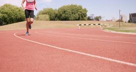 Sportsperson running Footage