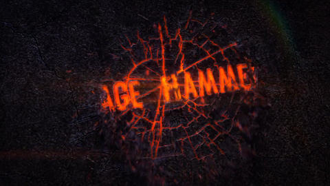 Rage Hammer - Fiery crack Logo Reveal After Effects Template