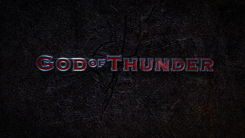God Of Thunder - Electric Smashing Hammer Logo Stinger After Effects Template