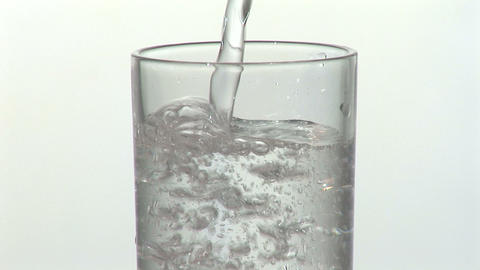 Glass with Mineral Water Footage