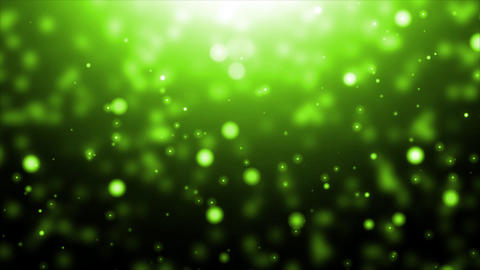 Moving Green Particles Animation