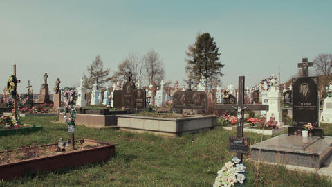 Old Christian Cemetery stock footage