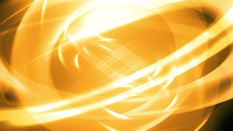 Yellow Translucent Tube Rings Animation