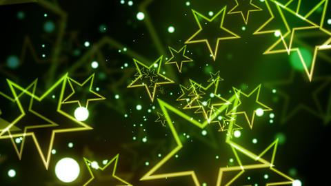 Green Glittering Celebration Star Animation