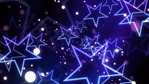 Blue Glittering Celebration Star Animation