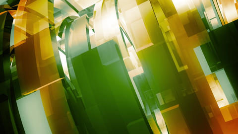 Broadcast Glass Rings Green Animation