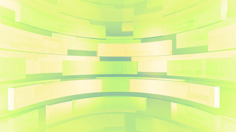 Glassy Round Moving Stage Green Animation