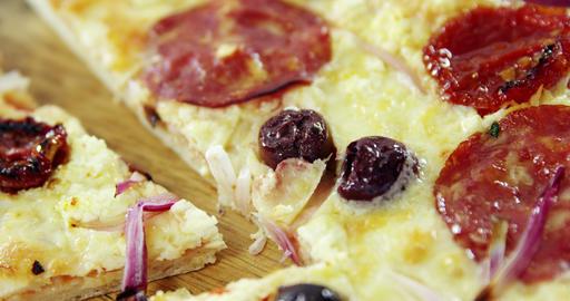 Delicious italian pizza Footage