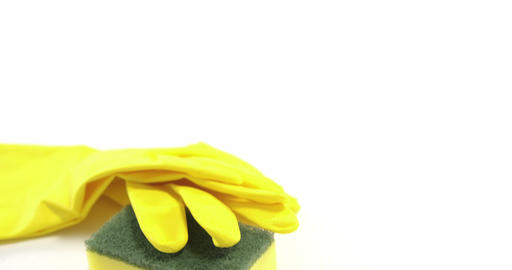 Cleaning sponge and gloves Live Action