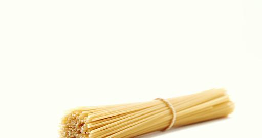 Bundle of raw spaghetti Live Action