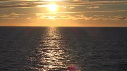 Norway Lofoten islands golden midnight sun on sea near the Arctic Circle ビデオ