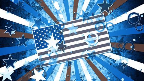 Patriotic Stars and Stripes Sunburst Animation