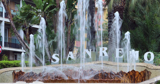 Fountain Of San Remo Italy ビデオ