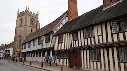 Shakespeare's Schoolroom & Guildhall Guild Chapel of the Holy Cross Stratford ビデオ