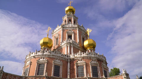 Russia. Moscow. Church of the Intercession of the virgin in Fily ビデオ