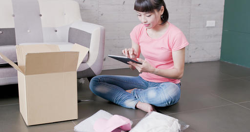 woman sellers package things Live Action
