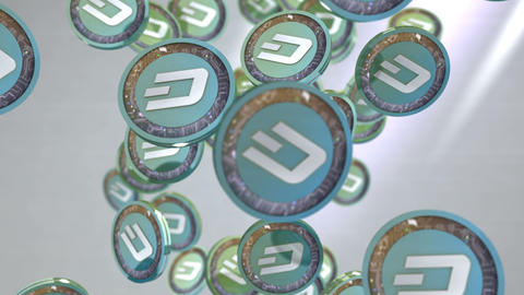 Dash coin, Digital currency animation Animation