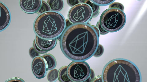EOS coin, Digital currency animation Animation