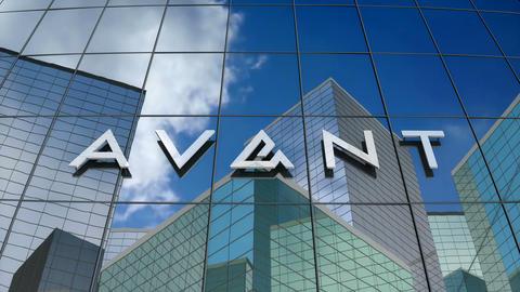 Editorial, Avant Inc. logo on glass building Animation