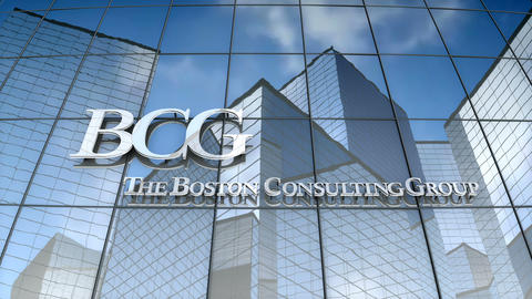 Editorial, Boston Consulting Group logo on glass building Animation