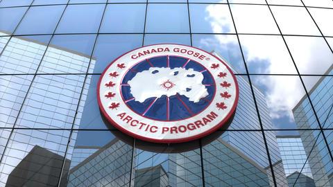 Editorial, Canada Goose Inc. logo on glass building Animation