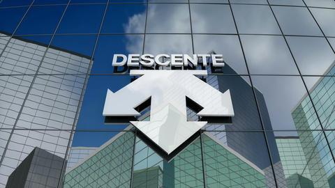 Editorial, Descente Ltd. logo on glass building Animation
