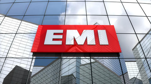 Editorial, EMI Group Limited logo on glass building Animation