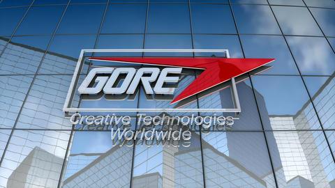 Editorial, W.L. Gore & Associates logo on glass building Animation