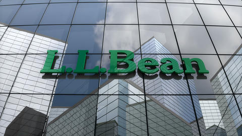 Editorial, L.L.Bean, Inc. logo on glass building Animation