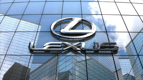 Editorial, Lexus logo on glass building Animation