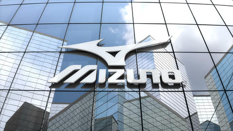 Editorial, Mizuno Corporation logo on glass building Animation