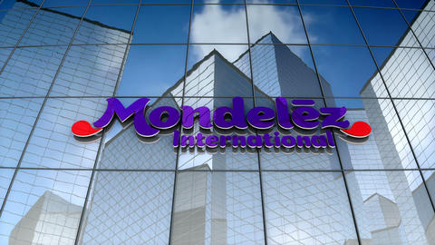 Editorial, Mondelez International, Inc. logo on glass building Animation
