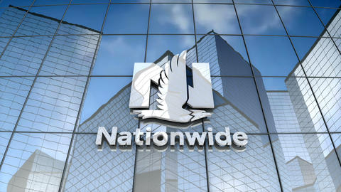 Editorial, Nationwide Mutual Insurance Company logo on glass building Animation
