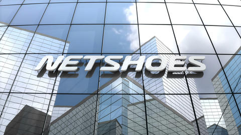Editorial, Netshoes Limited logo on glass building Animation