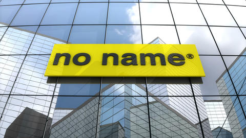 Editorial, No Name logo on glass building Animation