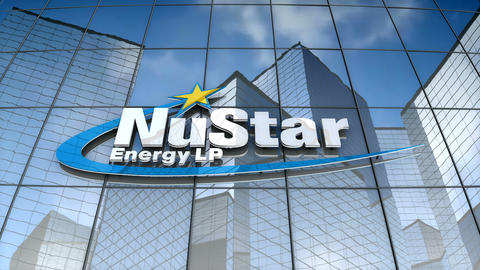 Editorial, NuStar Energy logo on glass building Animation