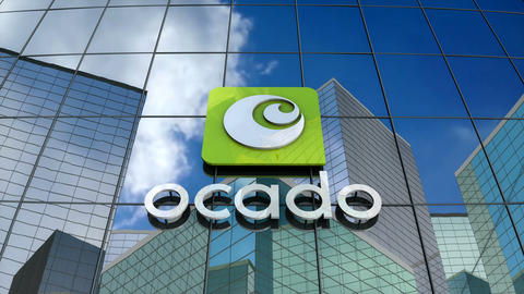 Editorial, Ocado logo on glass building Animation