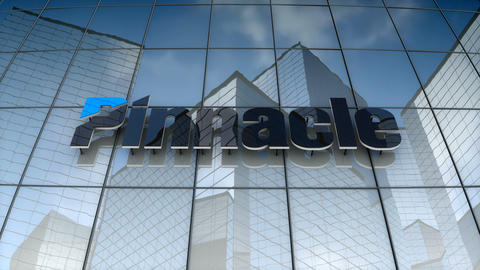 Editorial, Pinnacle Financial Partner logo on glass building Animation